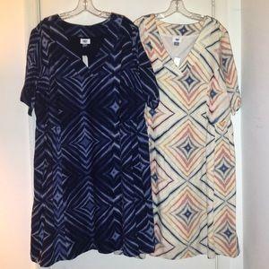 Old Navy 2X (20/22) (2) Defined Waist Dress Bundle
